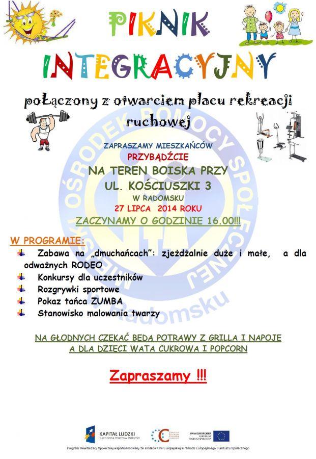 Plakat - piknik MOPS