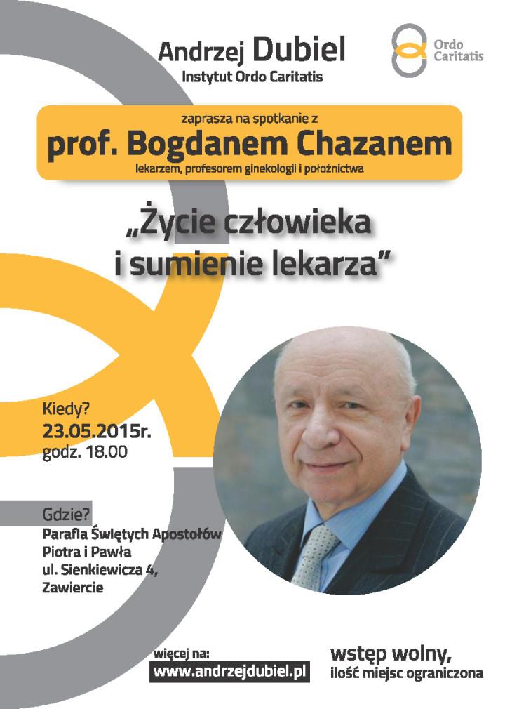 Plakat Prof. Chazan w Zawierciu