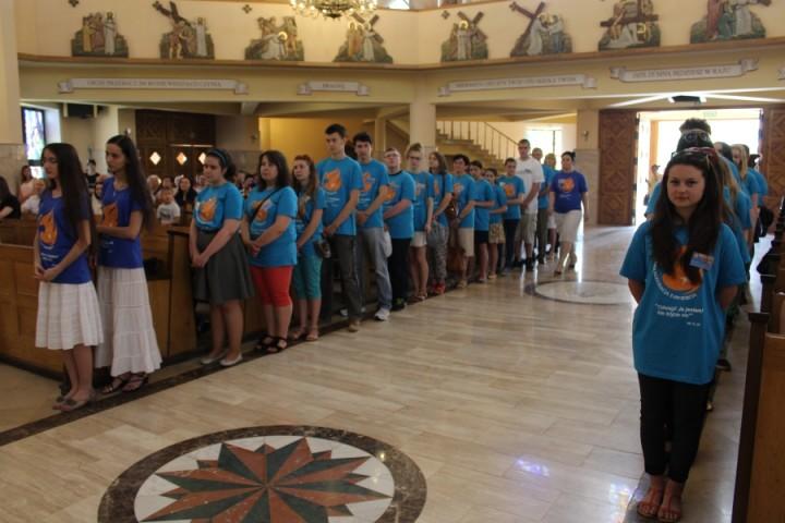 08 06 2015 Zawiercie Rozesłanie wolontariuszy NEZ 1