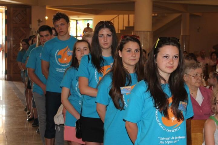 08 06 2015 Zawiercie Rozesłanie wolontariuszy NEZ 2