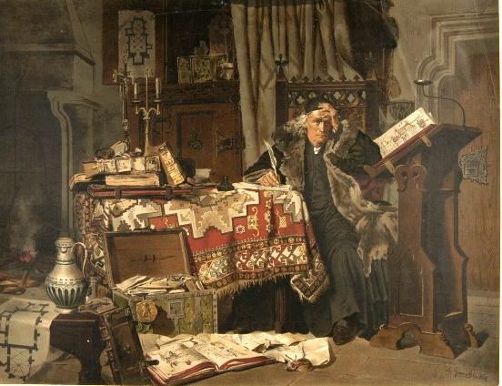 Jan Długosz w swojej pracowni - obraz Jana Matejki