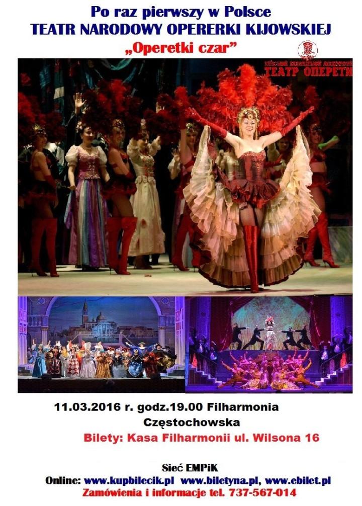 Teatr Narodowy Operetki Kijowskiej w Filharmonii Częstochowskiej