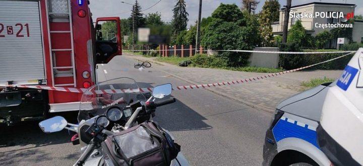 Rowerzysta śmiertelnie potrącony na ul. Rocha