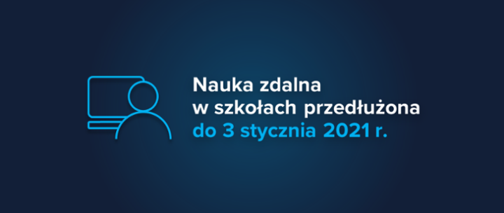Nauka zdalna w szkołach przedłużona do 3 stycznia 2021 r.