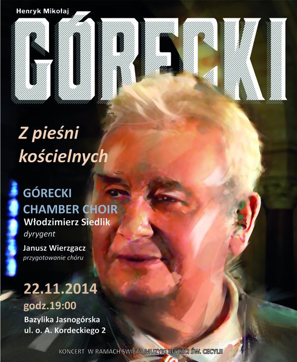 Górecki - plakat na Częstochowę