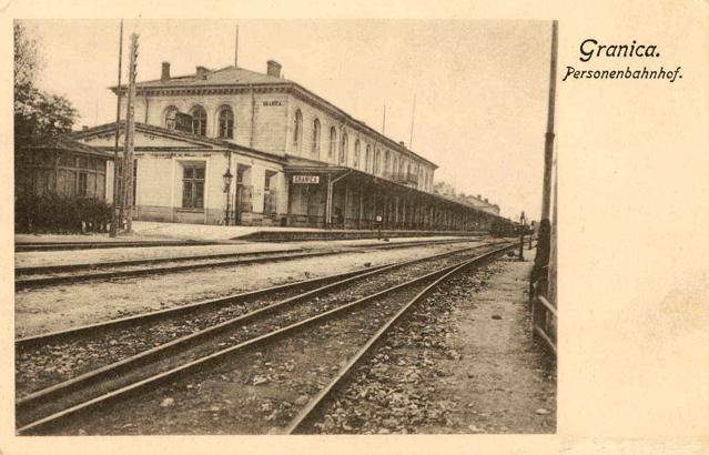 Granica_Personenbahnhof, inaczej Maczki, około 1900 do 1914, autor nieznany