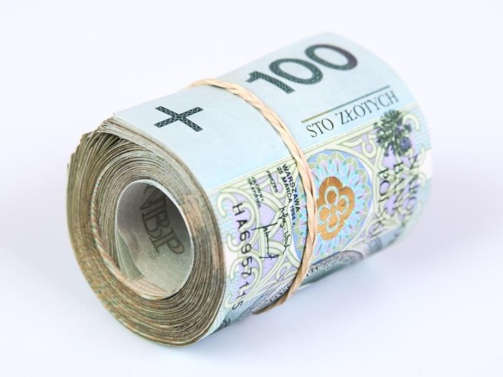 Roll of polish currency banknotes, Zoty