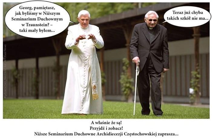 Benedykt XVI pozdrawia Niższe Seminarium Duchowne w Częstochowie