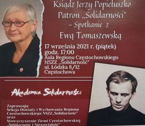 O ks. Jerzym Popiełuszce z Ewą Tomaszewską