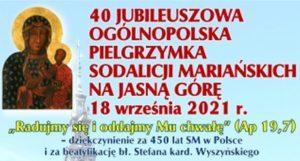 Sodalicje Marjańskie świętować będą 450 lat obecności w Polsce